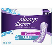 Always Discreet Moderate Incontinence Pad, 153 ct.