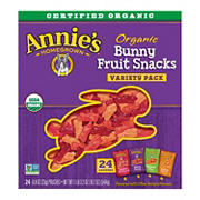 Annie's Organic Bunny Fruit Snacks Variety Pack, 24 ct.