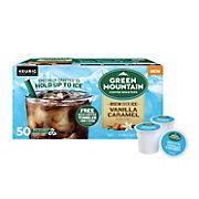 Green Mountain Coffee Roasters Brew Over Ice Vanilla Caramel K-Cups, 50 ct.