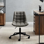 W. Trends Adjustable Height Modern Tufted Armless Swivel Office Chair - Gray
