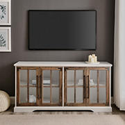 """W. Trends 58"""" Farmhouse Window TV Stand for TVs up to 64"""""""