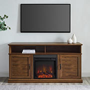 """W. Trends 60"""" Fluted Door TV Stand for TVs up to 65"""""""