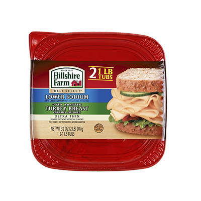 Hillshire Farm Thin Sliced Lower Sodium Oven Roasted Turkey Breast, 16
