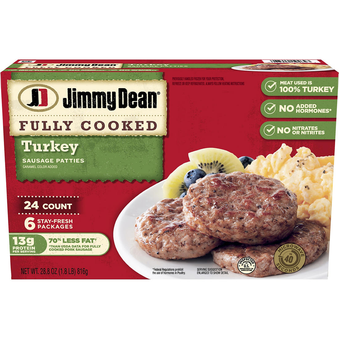 Jimmy Dean Turkey Sausage Patties, 24