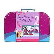 Bright Stripes 20-Pc. Tin Tea Set - Swan Princess