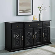 """W. Trends 60"""" Fretwork TV Stand for TVs up to 65"""""""