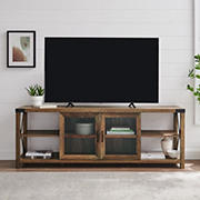 """W. Trends 70"""" Glass TV Stand for TVs up to 80"""""""