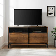 """W. Trends 52"""" Metal Mesh TV Stand"""