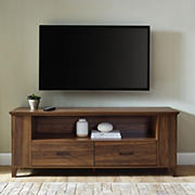 """W. Trends 60"""" Storage 2 Drawer TV Stand for TVs up to 65"""""""
