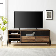 """W. Trends 70"""" Mesh TV Stand for TVs up to 80"""""""
