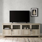 """W. Trends 70"""" Wood TV Stand for TVs up to 80"""""""