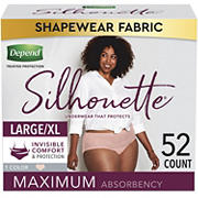 Depend Silhouette Incontinence Underwear for Women, L/XL, Pink, 52 ct.