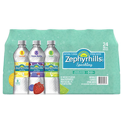 Zephyrhills Assorted Flavor Sparkling Natural Spring Water, 24 pk./16