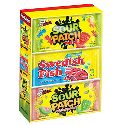 Swedish Fish and Sour Patch Variety Pack, 18 pk./2 oz.