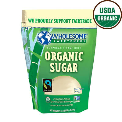 Wholesome Sweeteners Organic Sugar, 4 lbs.