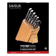 Cangshan Saveur Selects Voyage Series German Steel Forged Knife Block Set, 7 pc.