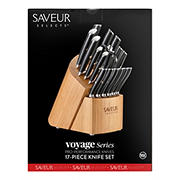 Cangshan Saveur Selects Voyage Series German Steel Forged Knife Block Set, 17 pc.