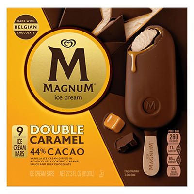 Magnum Double Caramel Ice Cream Bars, 9 ct.