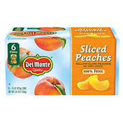 Del Monte Sliced Peaches in 100% Juice, 6 pk./15 oz.