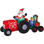 Gemmy Airblown Inflatable Santa's Tractor