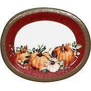 Berkley Jensen Grateful Fall Oval Platter, 60 ct.