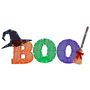"""National Tree 23"""" """"BOO"""" Sign with LED Lights Decoration for Halloween"""