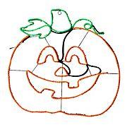 "National Tree 24"" LED Light Strip Pumpkin Decoration for Halloween"
