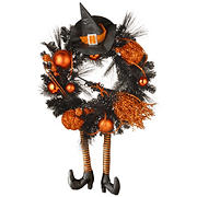 """National Tree 24"""" Halloween Witch Wreath"""