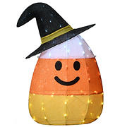 """National Tree 35"""" Pre-Lit Candy Corn Witch"""