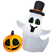 National Tree 4' Inflatable Ghost and Pumpkin