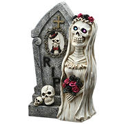 "National Tree 16"" Tombstone and Skeleton Bride"