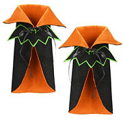 National Tree 2-Pc. Wine Bottle Halloween Bat Cape Cover Set