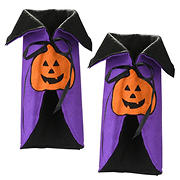 National Tree 2-Pc. Wine Bottle Halloween Pumpkin Cape Cover Set