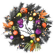 "National Tree 22"" Halloween Decorated Wreath"