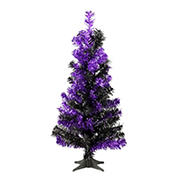National Tree 2' Tinsel Tree-Black and Purple