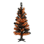 National Tree 2' Tinsel Tree-Black and Orange