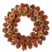 "National Tree 20"" Pinecone Wreath"