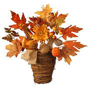 "National Tree 16"" Maple Leaf Wall Basket"