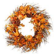 "National Tree 28"" Maple Leaf and Pumpkins Wreath"