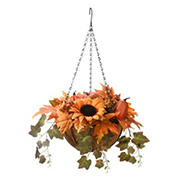"National Tree 18"" Harvest Hanging Basket with Ivy"
