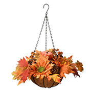"National Tree 18"" Harvest Hanging Basket"