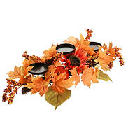 "National Tree 24"" Harvest Maple Leaf Candleholder"