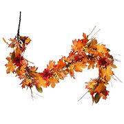 "National Tree 60"" Harvest Maple Leaf Garland"
