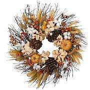 """National Tree 22"""" Autumn Pinenut Wreath"""