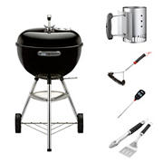 """Weber 18"""" Original Kettle Charcoal Grill Combo Pack"""