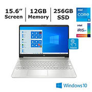 HP 15-dy2056 Laptop, Intel Core i5-1135G7 Processor, 12GB Memory, 256GB SSD, Intel Iris X Graphics