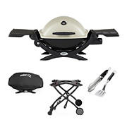 Weber Q 1200 Portable Gas Grill Combo Pack