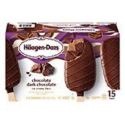 Haagen-Dazs Chocolate Dark Chocolate Ice Cream Bars, 15 ct.