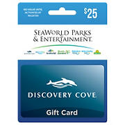 $25 Discovery Cove Gift Card