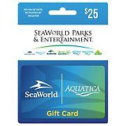 $25 SeaWorld/Aquatica Gift Card